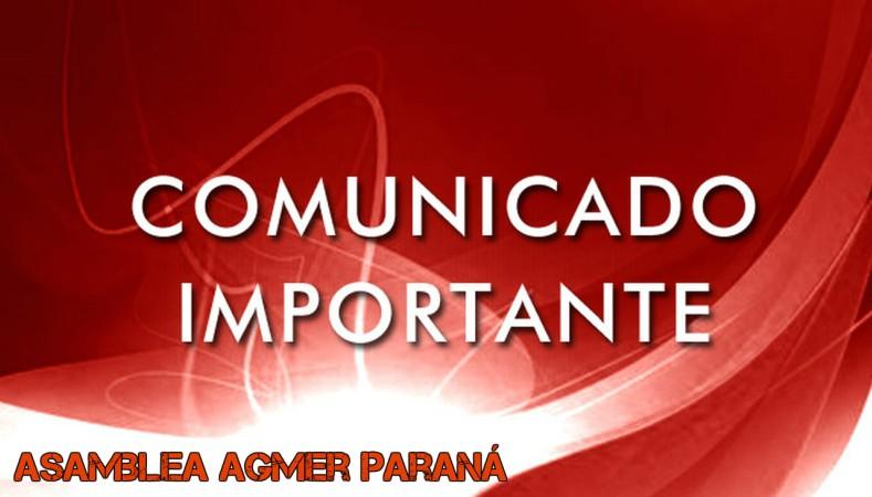 Comunicado de Agmer Seccional Paraná