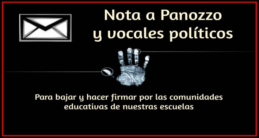 Petitorio a Panozzo  y vocales políticos