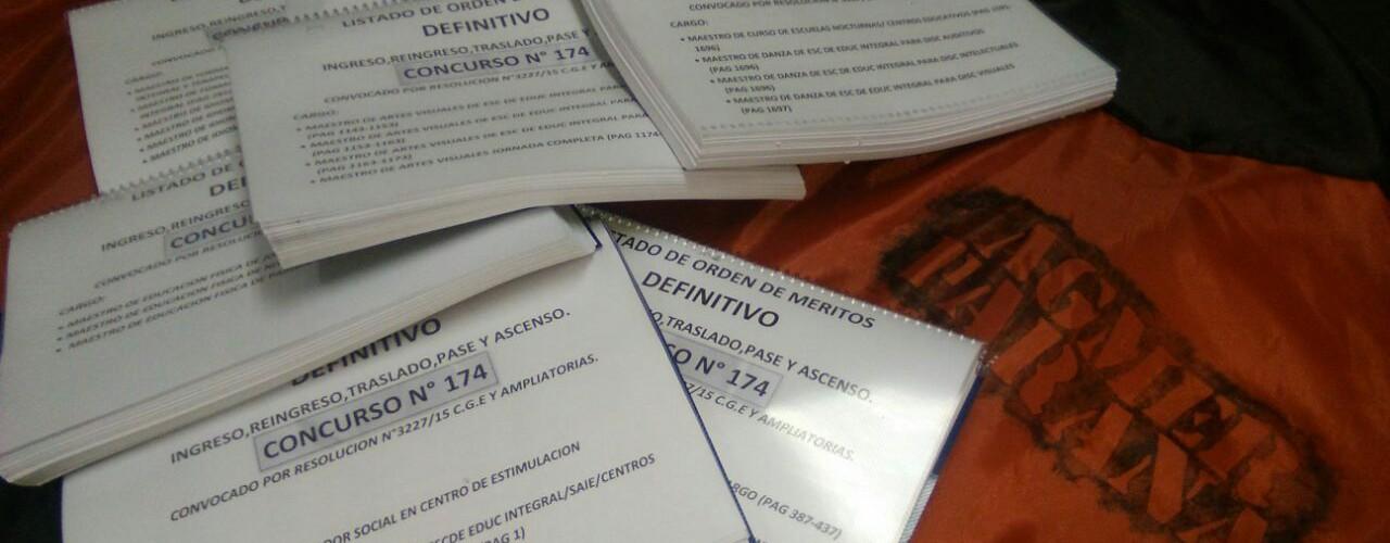 Listados Definitivos en papel