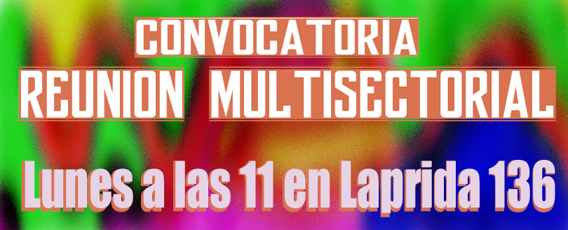 Convocatoria a Multisectorial