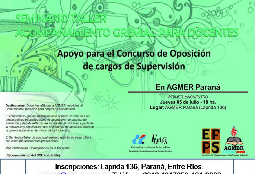 Seminario-taller de acompañamiento gremial por concurso de oposición Supervisión