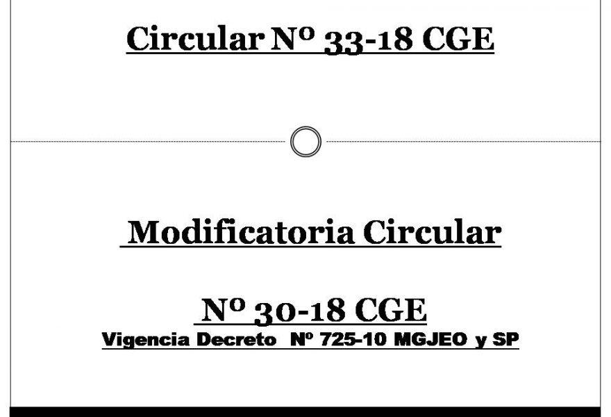 Circular 33- 18 CGE