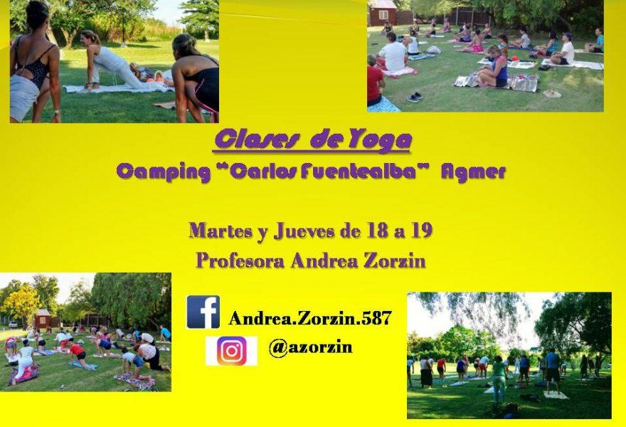 """Clases de Yoga en Camping """"Carlos Fuentealba"""" Agmer"""