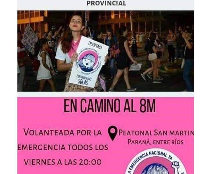 """Campaña  """"Verano Rosa"""" para reclamar la declaración de la emergencia nacional y provincial en violencia de género"""