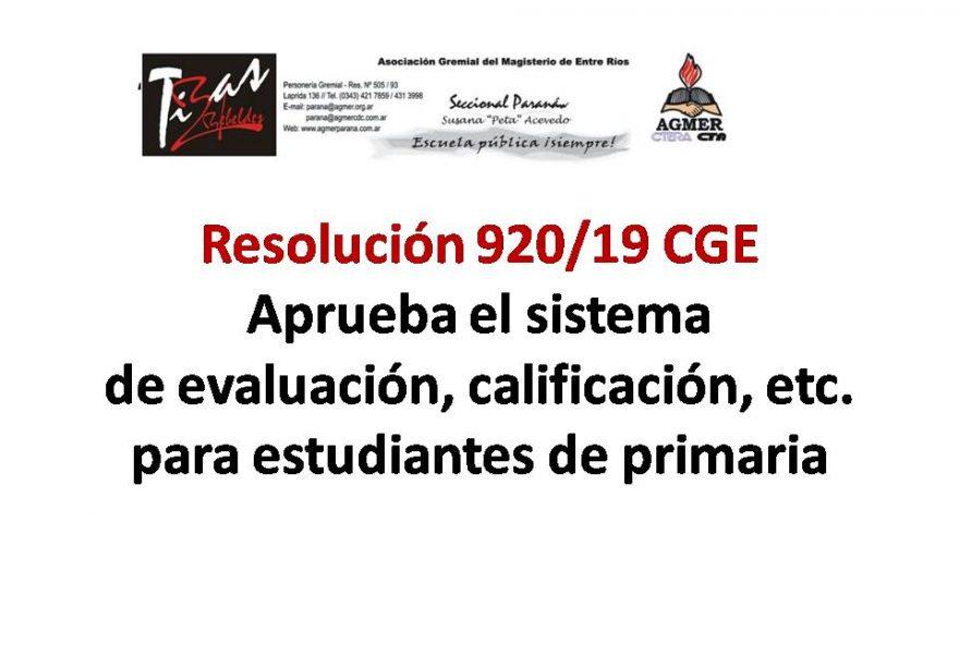 Sistema de evaluación, calificación, etc. para estudiantes de primaria