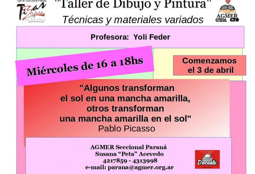 """""""Taller de Dibujo y Pintura""""  Técnicas y materiales variados"""