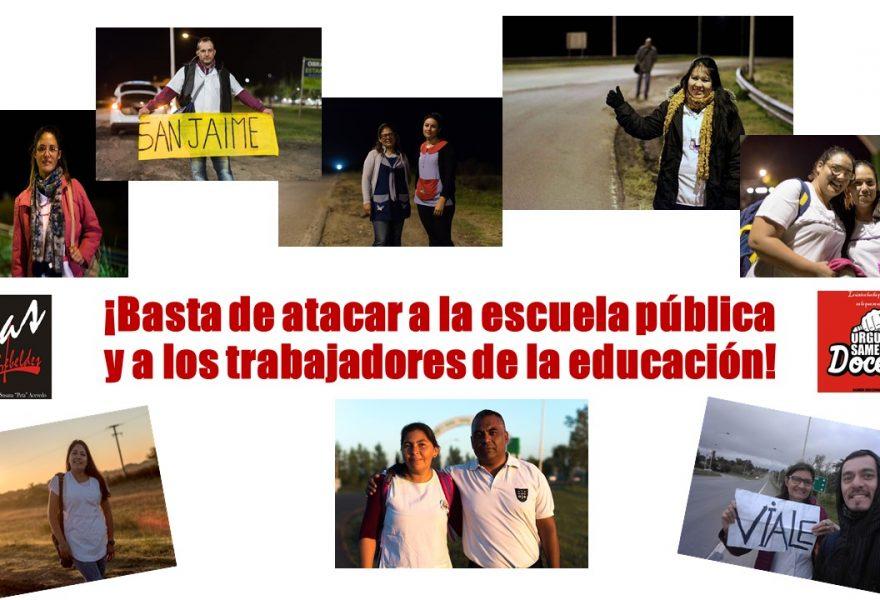 ¡Basta de atacar a la escuela pública y a los trabajadores de la educación!