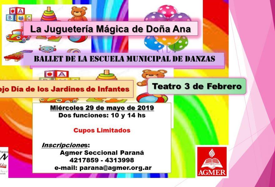 Miércoles 29 de mayo de 2019. Obra de teatro: La juguetería Mágica de Ana.