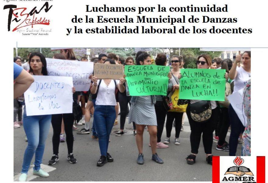 Luchamos por la continuidad de la Escuela Municipal de Danzas y la estabilidad laboral de los docentes