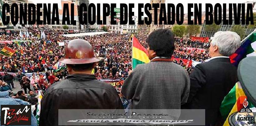 CONDENA AL GOLPE DE ESTADO EN BOLIVIA