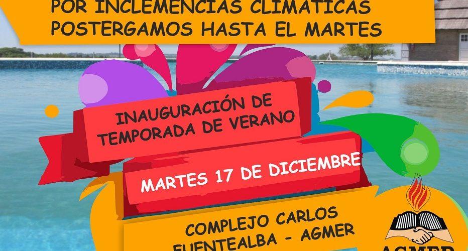 Por el temporal, la inauguración de la temporada en el cámping se pospuso para martes 17 de diciembre