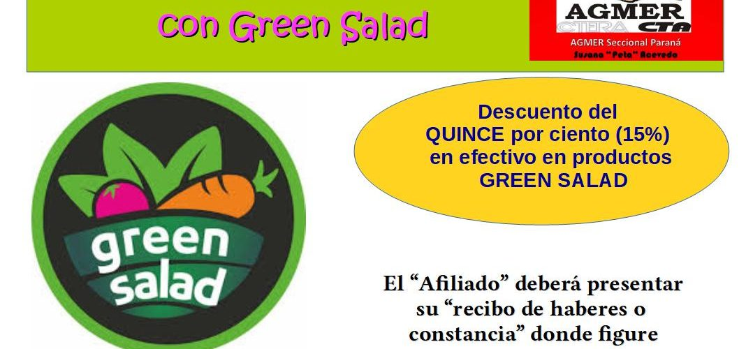 Convenios de Beneficios con Green Salad