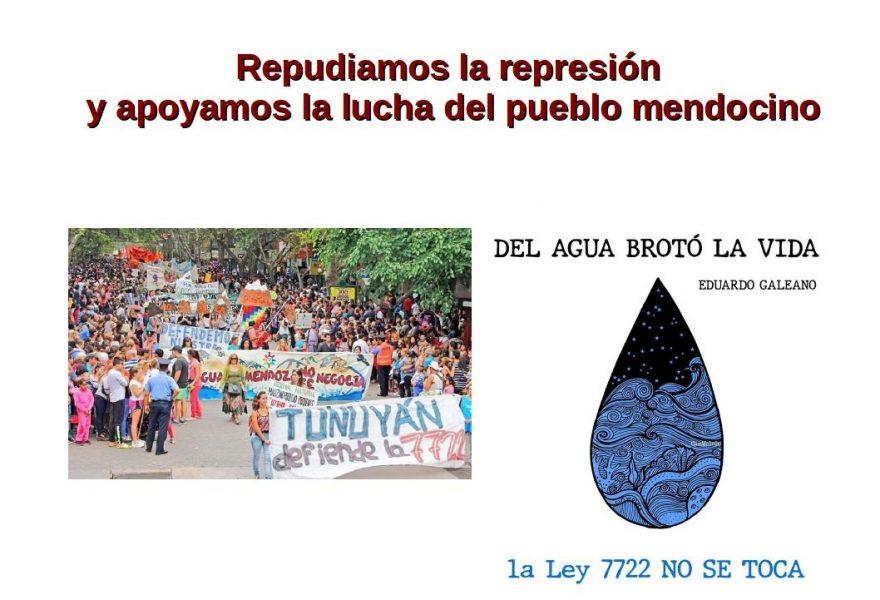 Repudiamos la represión y apoyamos la lucha del pueblo mendocino