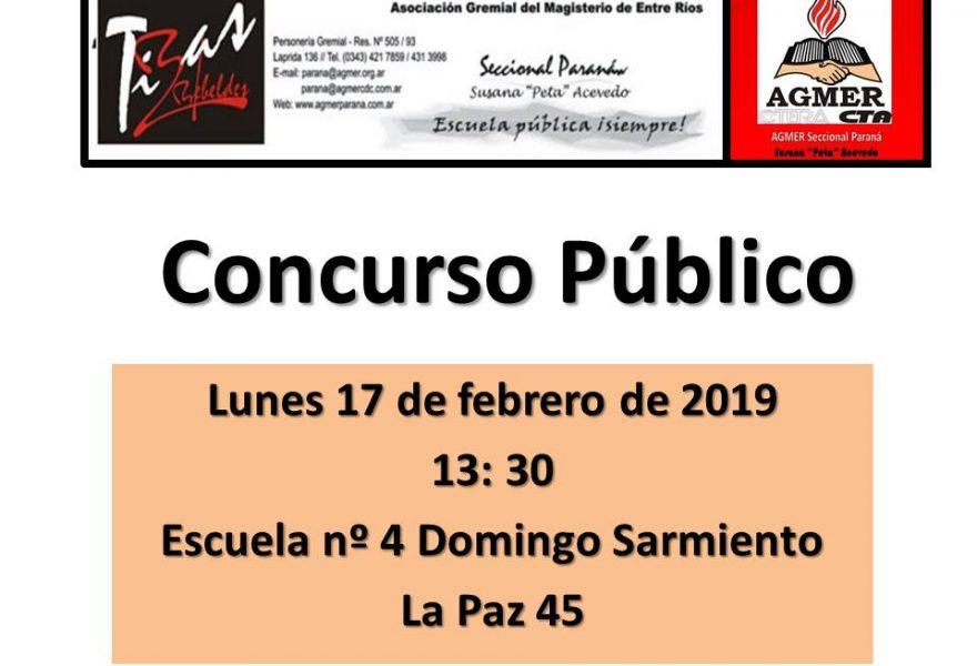 Concurso Público. 17 de febrero de 2020