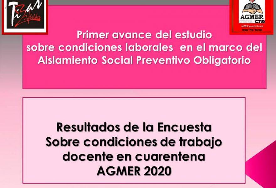 Primer avance del estudio sobre condiciones laborales en el marco del Aislamiento Social Preventivo Obligatorio