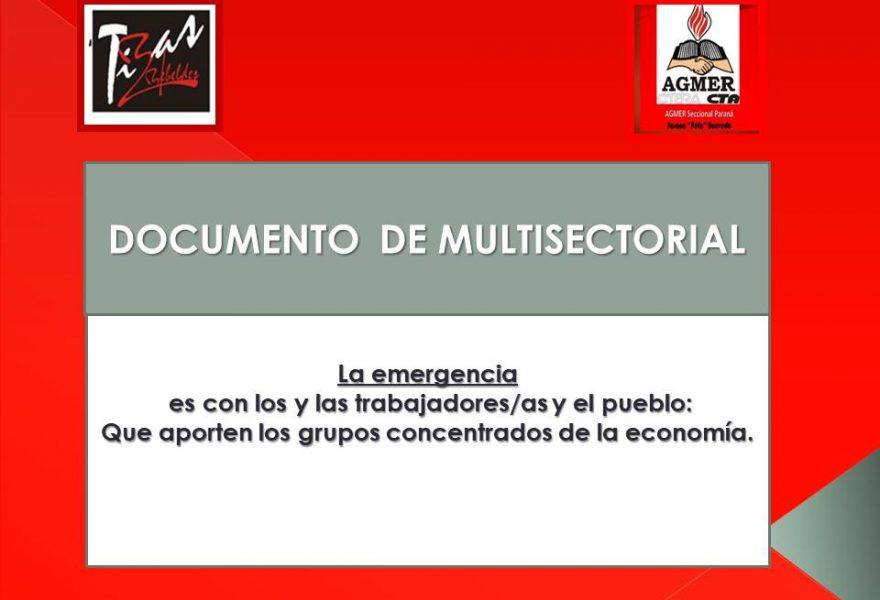 La emergencia es con los y las trabajadores/as y el pueblo: Que aporten los grupos concentrados de la economía.