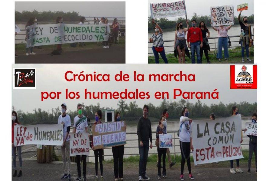 Crónica de la marcha por los humedales en Paraná