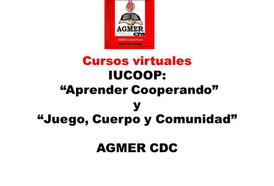 """Cursos virtuales  IUCOOP: """"Aprender Cooperando"""" y """"Juego, Cuerpo y Comunidad"""""""