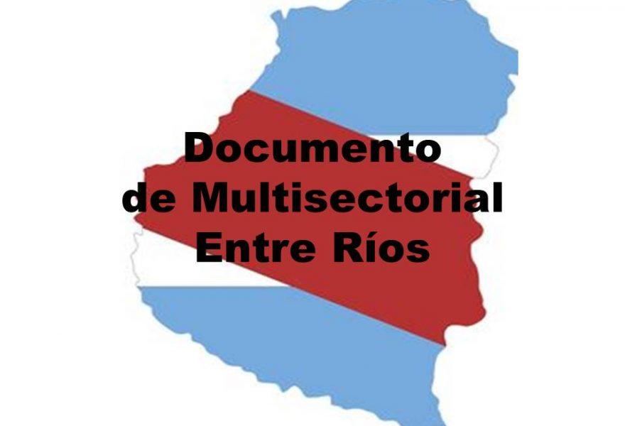 Documento de Multisectorial Entre Ríos