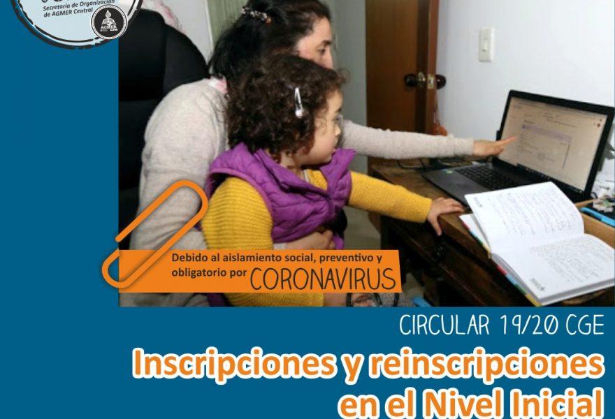 Inscripciones y reinscripciones en el Nivel Inicial
