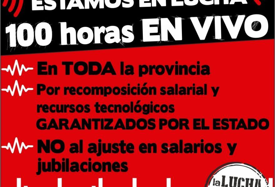 Las y los docentes en lucha: 100 horas de radio en defensa de la Educación Pública