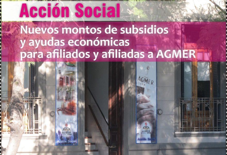 Nuevos montos de ayudas económicas de AGMER