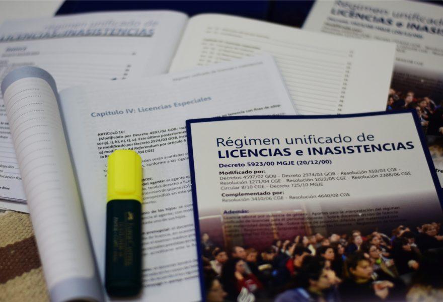 Cuadernillo del Régimen de Licencias: nueva versión disponible para los docentes