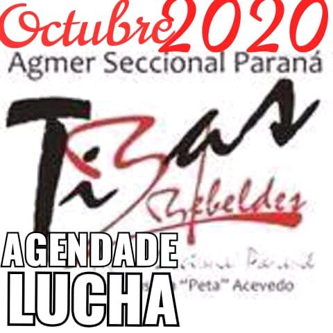 Agenda de lucha Agmer Seccional Paraná.  Octubre 2020