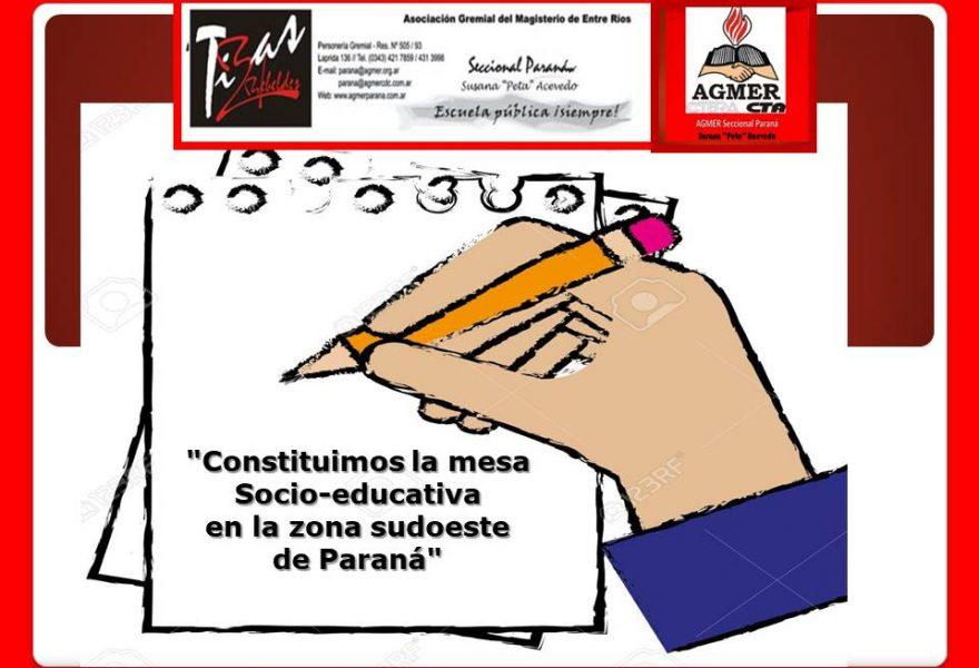 «Constituimos  la mesa Socio-educativa  en la zona sudoeste  de Paraná»