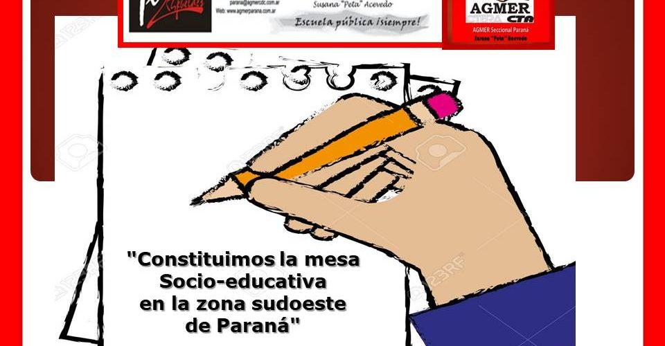 """""""Constituimos  la mesa Socio-educativa  en la zona sudoeste  de Paraná"""""""