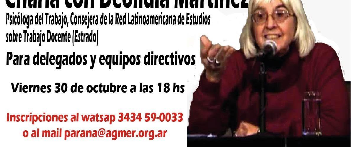 Pandemia y trabajo docente de conducción. Charla con Deolindia Martínez