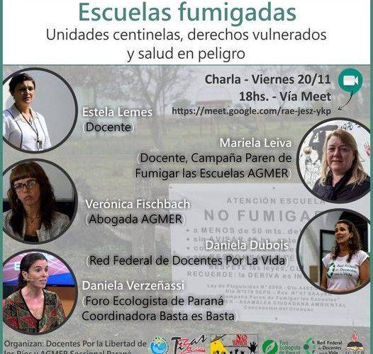 ESCUELAS FUMIGADAS: Unidades centinelas, derechos vulnerados y salud en peligro.