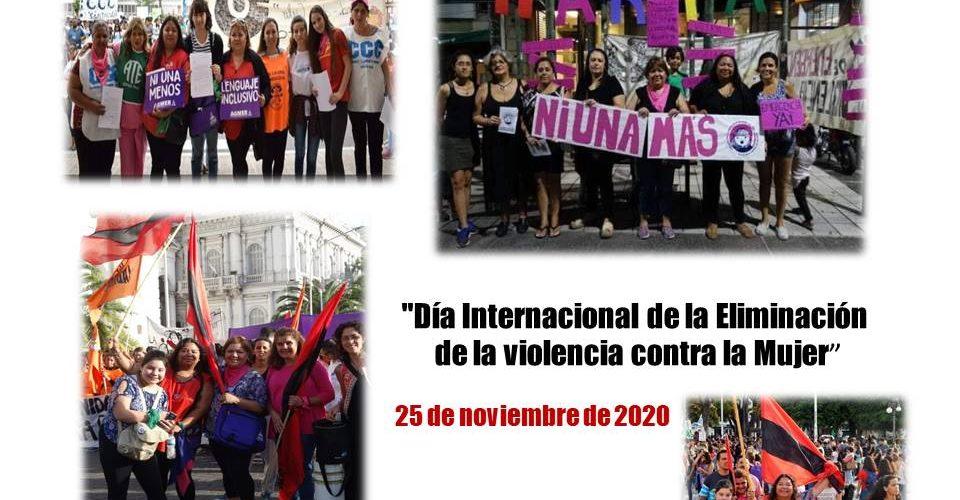 """25 de noviembre """"Día Internacional de la Eliminación de la violencia contra la Mujer"""""""