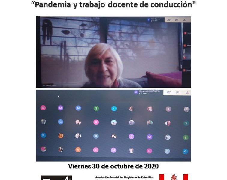 """Charla con Deolidia Martínez. """"Pandemia y trabajo docente de conducción"""""""