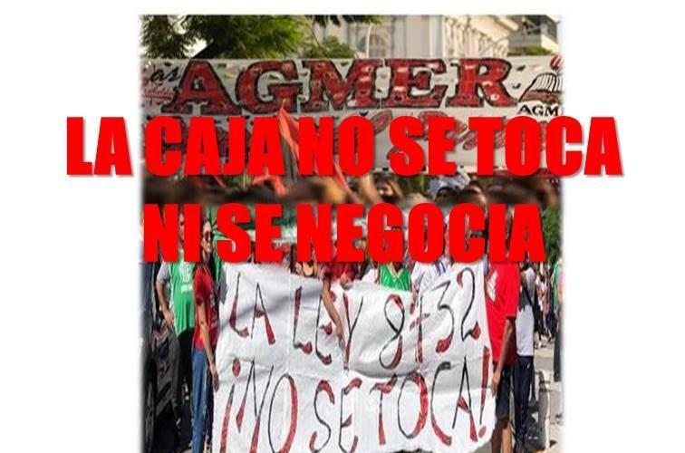La Caja No se toca ni se negocia. Videos del canal youtube Agmer seccional Paraná