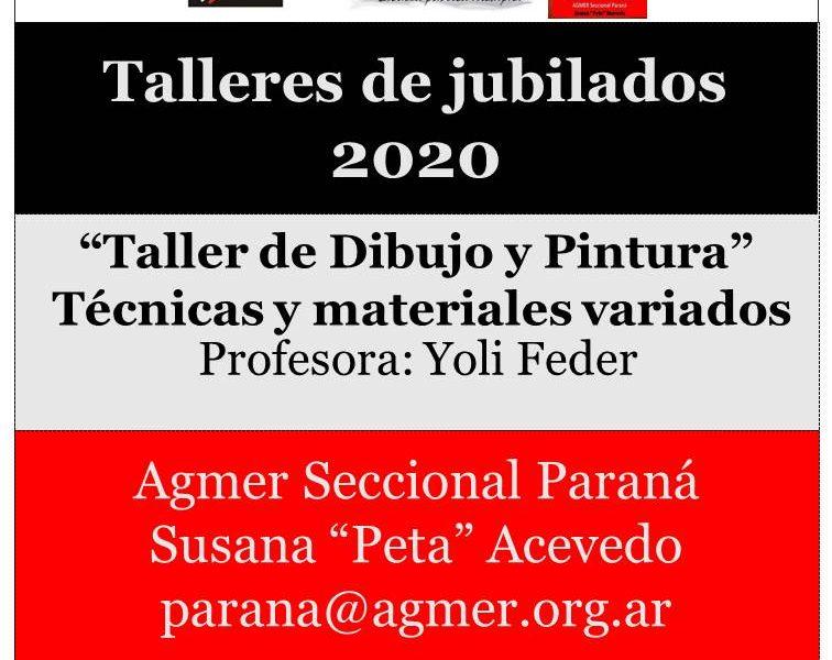 Taller de Jubilados 2020, Dibujo y Pintura Técnicas y materiales variados