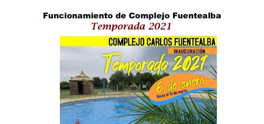 """Funcionamiento del Complejo """"Carlos Fuentealba"""" durante la temporada 2021"""
