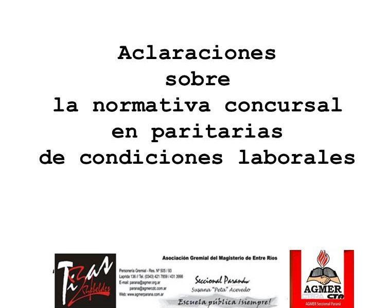 Aclaraciones sobre la normativa concursal en al paritaria de condiciones laborales