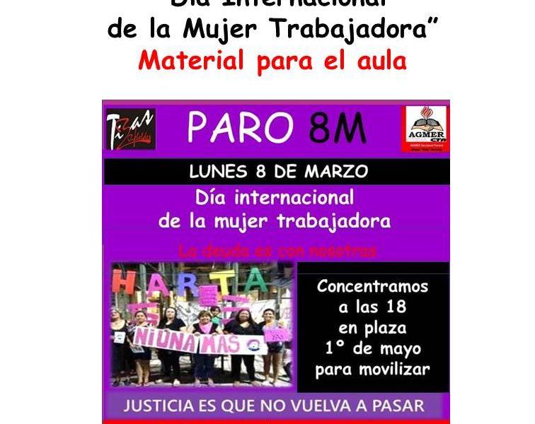 """""""Día Internacional de la Mujer Trabajadora"""" Material para el aula"""