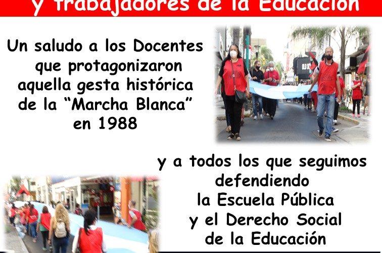 23 de mayo. Feliz día  de las trabajadoras y trabajadores de la educación
