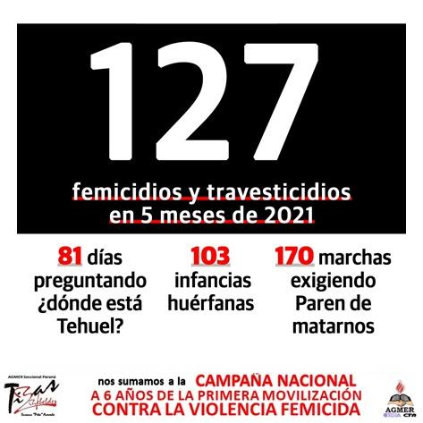 """6 años de """"NI UNA MENOS"""". URGENTE que se declare la Emergencia Nacional en Violencia contra las Mujeres, porque VIVAS Y LIBRES NOS QUEREMOS!!!"""