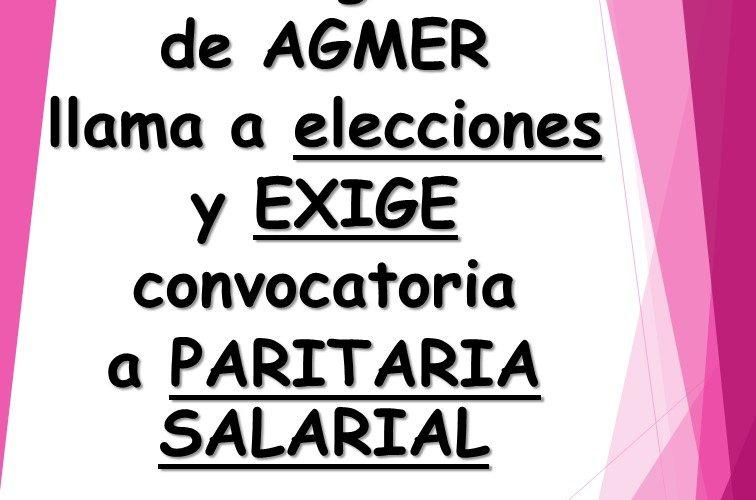El Congreso de AGMER llama a elecciones y exige convocatoria a paritaria salarial