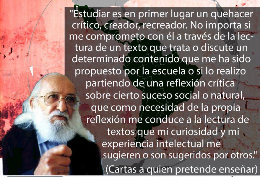Celebramos los cien años del maestro Paulo Freire