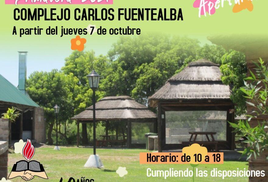 Jueves 7 de octubre: Apertura del Complejo Carlos Fuentalba